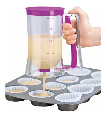 Dosificador De Pancakes Embudo Dispensador De Masa Cupcakes