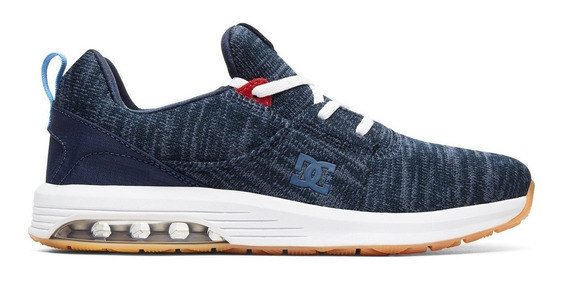 Zapatilla Dc Heathrow Azul Con Capsula De Aire