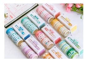 Conjunto De 10 Fitas Washi Tape Decorativas Scrapbook
