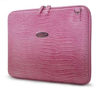 Mobile Edge Faux Croc Portafolios Rosa