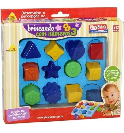 Brinquedo Educativo Didático Brincando Com Números Plasbrink