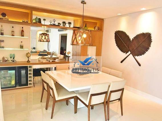 Apartamento À Venda, 204 M² Por R$ 2.000.000,00 - Boqueirão - Santos/sp - Ap0901