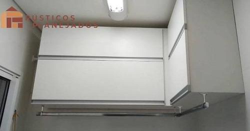 Imagem 1 de 4 de Móvel Em L 100% Mdf 18mm Portas Basculantes Com Pistões.