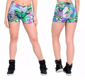 Kit C/3 Short Feminino Suplex Fitness Barato Academia