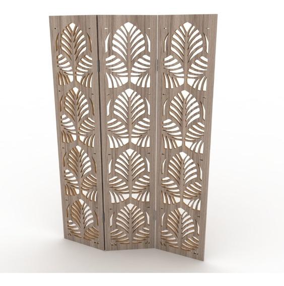 Panel Decorativo Biombo Separadores Valor X Hoja En Crudo