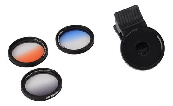 Zomei 37mm 3 Cores Formado Filtro Lente Telefone Celular Fil