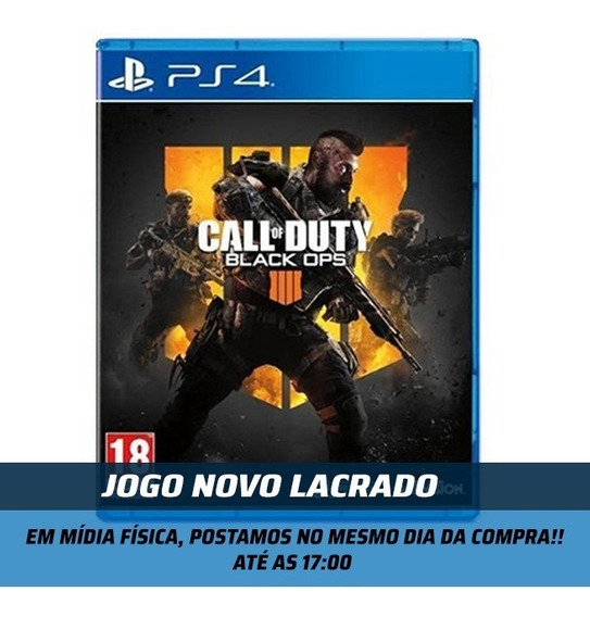 Jogo Call Of Duty Black Ops 4 Para Ps4 Media Física Lacrado