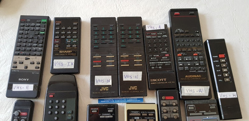 Controles Remoto De Video Casseteras Vhs