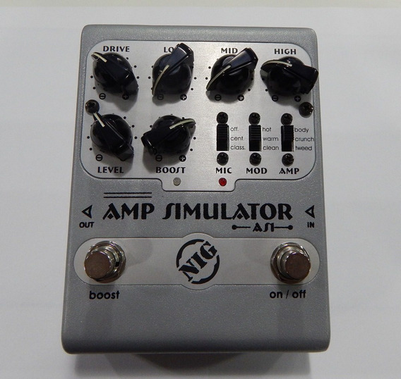 Nig Pedal Amp Simulator As1 Nf + Garantia