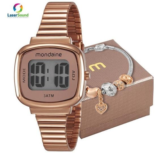 Kit Relógio Mondaine Feminino 53717lpmvre2k1 C Garantia E Nf