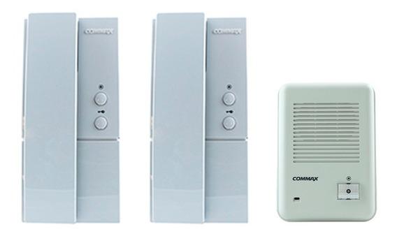 Kit Portero 2 Telefonos Intercomun.+fte.exter. Dp101 Commax