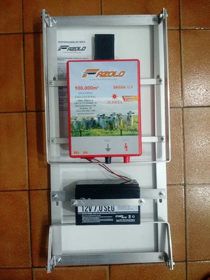 Eletrificador Solar Cerca Rural 100km Com Bateria