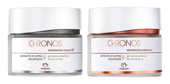 Natura Chronos 30+ Antissinais Noite + Dia 2x40g Kit C/2
