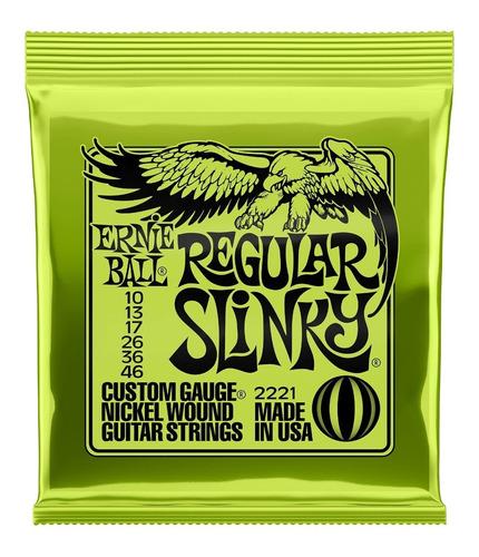 Imagem 1 de 5 de Encordoamento  Ernie Ball 0.10 Regular Slinky Usa C/ Nf-e