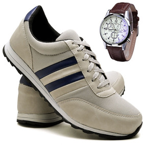 Sapatênis Sapato Casual Com Relógio Juilli Original 271