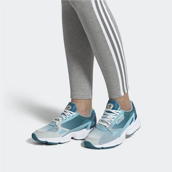 Tenis Falcon W Color Azul 3.5 Dama adidas - Envío Gratis