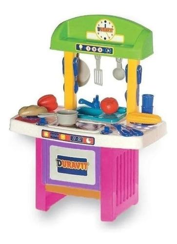 Imagen 1 de 10 de Mi Cocinita Cocina Duravit Chica Con 33 Accesorios Playking