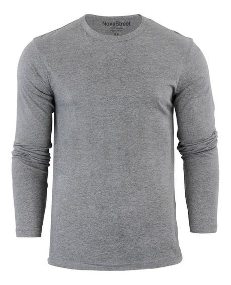 Camiseta Manga Longa Moda Swag - Tecido Dura Line®