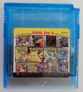 108 En 1 Para Game Boy Color, Con Pila, Pokemones, Protector