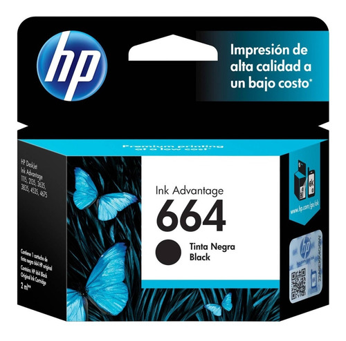 Cartucho Hp Original Verificable 664 Negro 664n 1115 2135