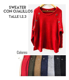 Sweater Pullover Grueso Mujer Hasta Talles Grandes