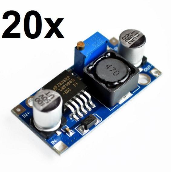 20x Regulador De Tensão Lm2596 Conversor Dc-dc Step Down