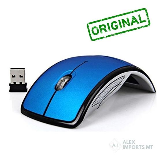 Mouse Lançamento Sem Fio Original Gbmax 1800dpi Azul Bom Bar