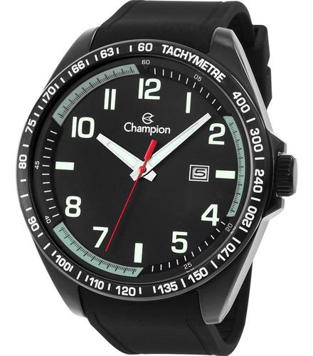 Relógio Champion Masculino Preto Analógico Ca31720p Silicone