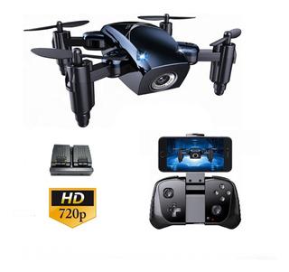 Mini Drone Con Cámara Hd 720p Wifi 2 Baterías + 7 Funciones