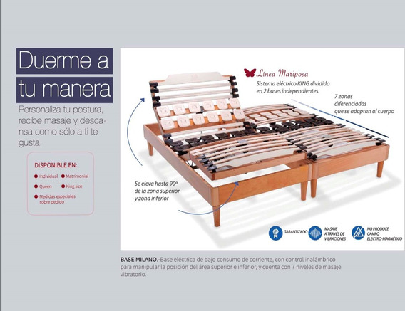 Outlet Cama Electrica De Masajes Matrimonial Bio Mattress