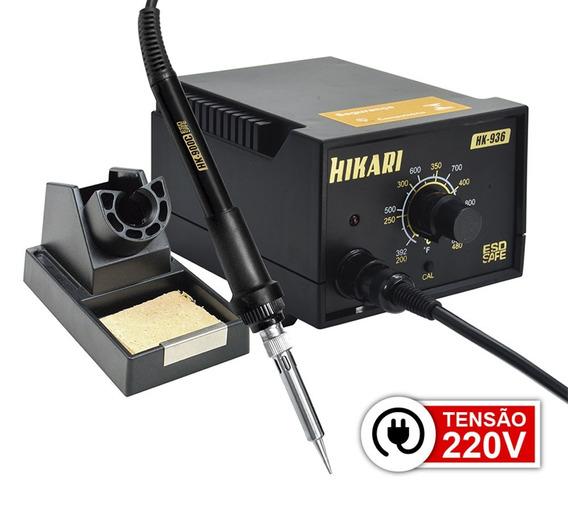 Estação De Solda Analógica Hikari Hk-936 Esd 220v Garantia 2
