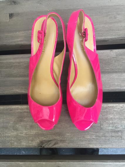 Zapatos Charol Fucsia Suela De Corcho Nine West