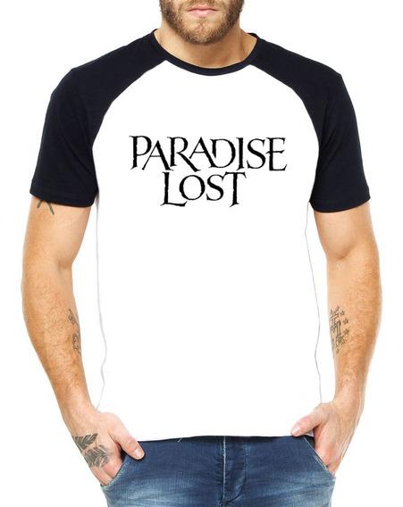 Camiseta Raglan Paradise Lost 100% Poliéster