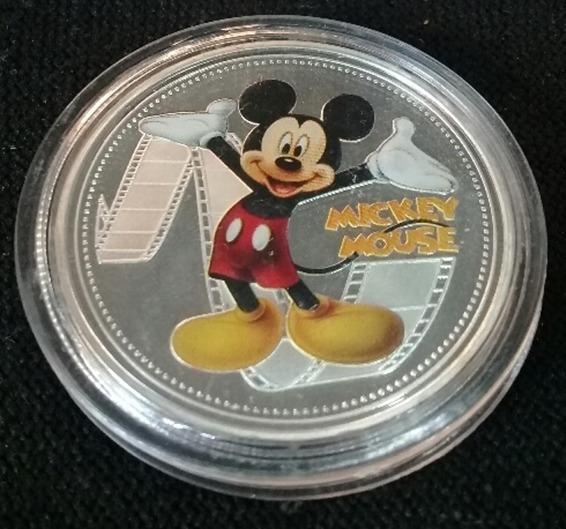 Moneda Mickey Mouse Nueva Zelanda Parque Centenario