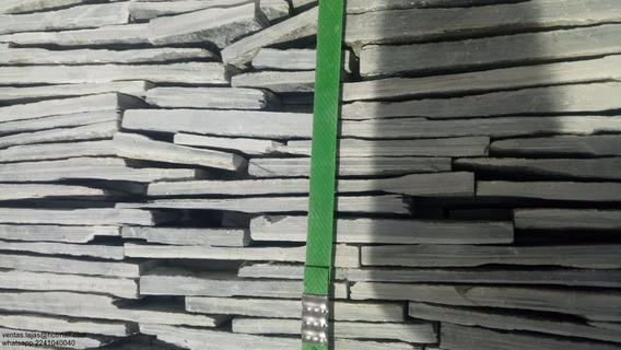 Piedra Laja Natural Negra Mixteca 3cm Paramento Muro Lloron