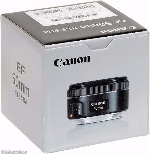 Lente Canon Ef 50mm F/1.8 Stm Com Motor De Auto-foco E Nfe