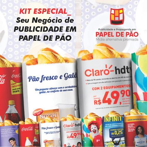 Imagem 1 de 8 de Kit Especial Seu Negócio De Publicidade Em Sacos De Pão