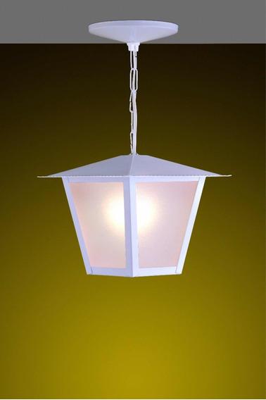 Kit C/ 4 Pendentes Colonial Quadrado Ideal Iluminação Branca