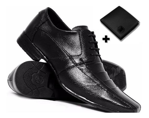 Sapato Masculino Social Verniz + Carteira Lincoln Shop