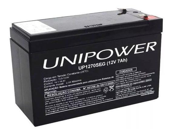 Bateria 12v 7ah Para Alarme - Unipower