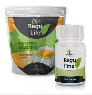 Emagrecedor Regu Fine + Chá Regu Life Promoção Imperdível