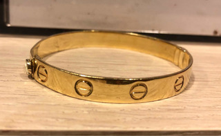 Pulsera De Oro 14k! Imitación De Cartier! Disponible!