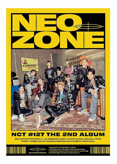 Nct 127 The 2nd Album Nct #127 Neo Zone Cd Nuevo Importado