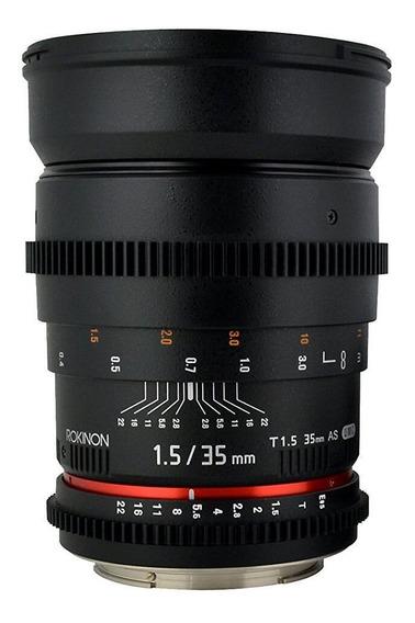 Lente Rokinon 35mm T1.5 Cine As Umc Sony A-mount (cv35-s)