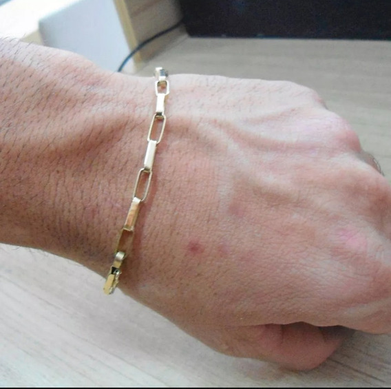 Pulseira Ouro 18k 750 Masculino Maciço.