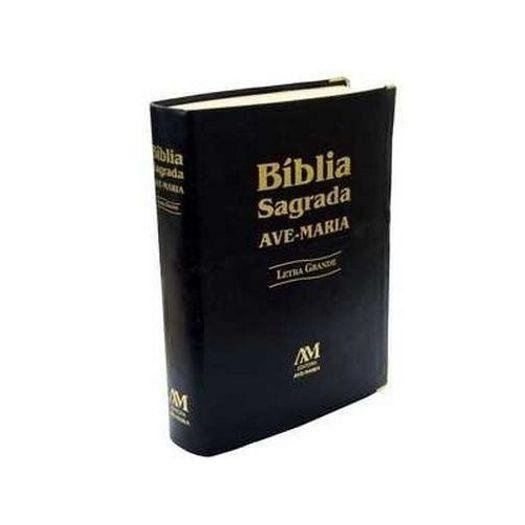 Bíblia Ave Maria Luxo Capa Preta Ou Marrom Letra Grande