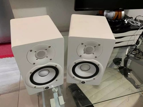 Monitores Yamaha Hs5 Branco 127v Ativo (par)