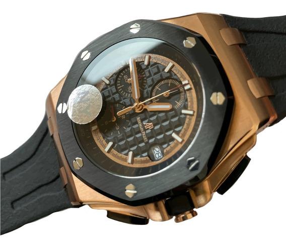 Reloj Audemars Piguet Royal Oak Offshore Negro Oro Rosa 503