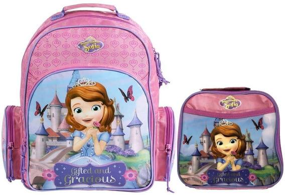 Mochila Infantil Princesa Sofia Lancheira Térmica G Disney