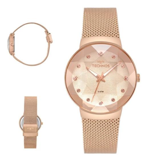 Relógio Technos Feminino Crystal 2035mpx/5t Original C/nota